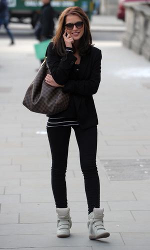 Helen Flanagan walking through London