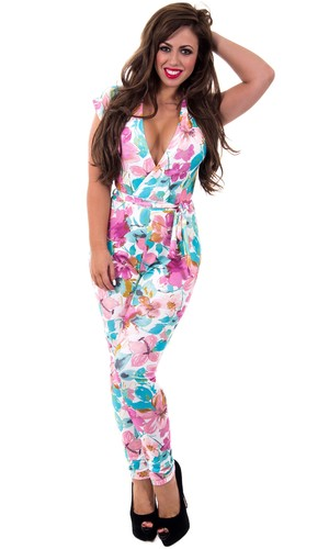 Holly Hagan in Pastel Print Playsuit from her Spring 2014 collection with The Fashion Bible - 26 March 2014