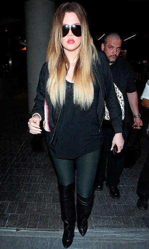 Khloe Kardashian - The Kardashians at LAX Los Angeles International Airport, America - 26 Mar 2014
