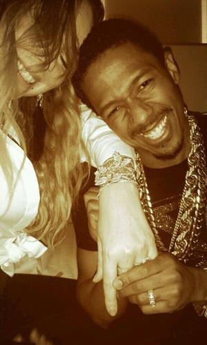 Mariah Carey celebrates her birthday with husband Nick Cannon (27 March 2014).