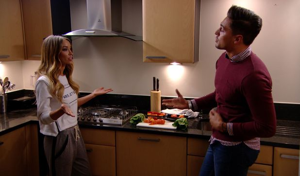 Lauren Pope and Mario Falcone meet to discuss Chloe Sims - 30 March 2014