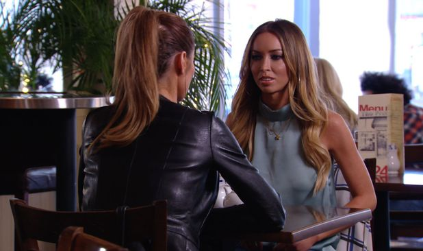 Chloe Sims and Lauren Pope discuss their row about Mario Falcone - 30 March 2014