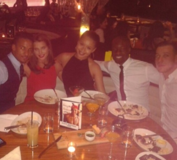 Helen Flanagan celebrates boyfriend Scott's birthday in London