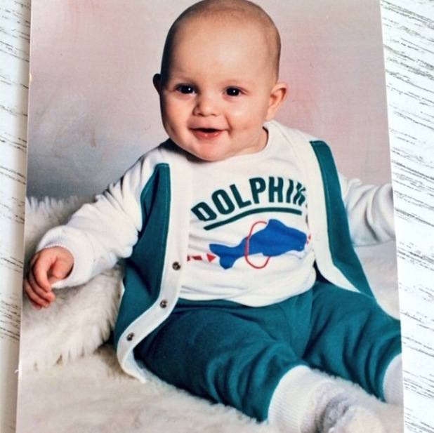 TOWIE's Bobby Norris as a baby (26 March 2014).