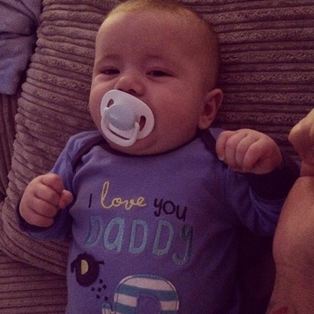 Dan Osborne and his baby son Teddy enjoy cuddles - 28 March 2014
