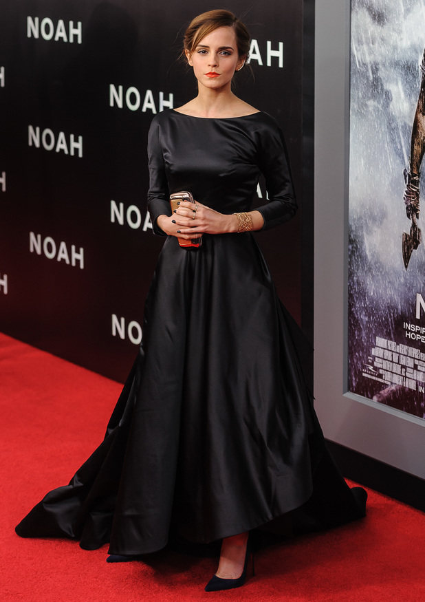 Emma Watson steps out at the premiere of her new movie Noah in New York, America - 26 March 2014