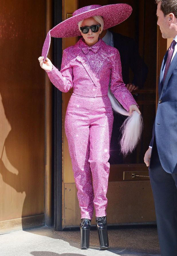 Lady Gaga steps out in New York, America - 24 March 2014
