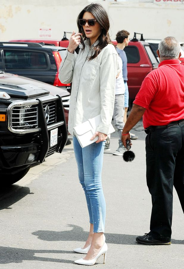 Kendall Jenner goes for lunch at Joan's on Third in Los Angeles, America - 21 March 2014