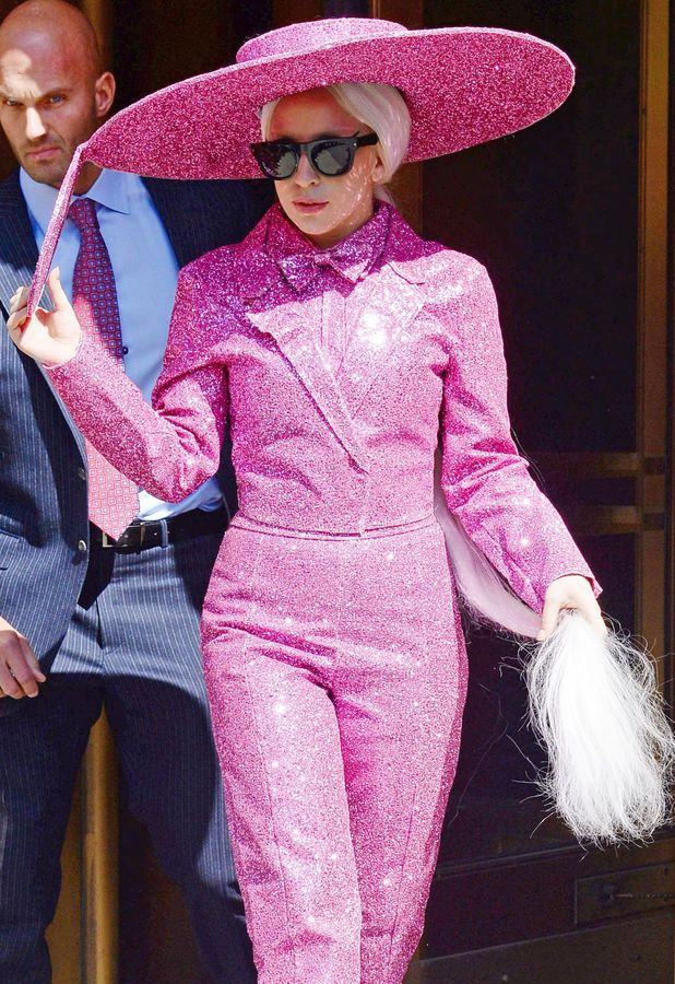 Lady Gaga out in New York, America - 24 March 2014