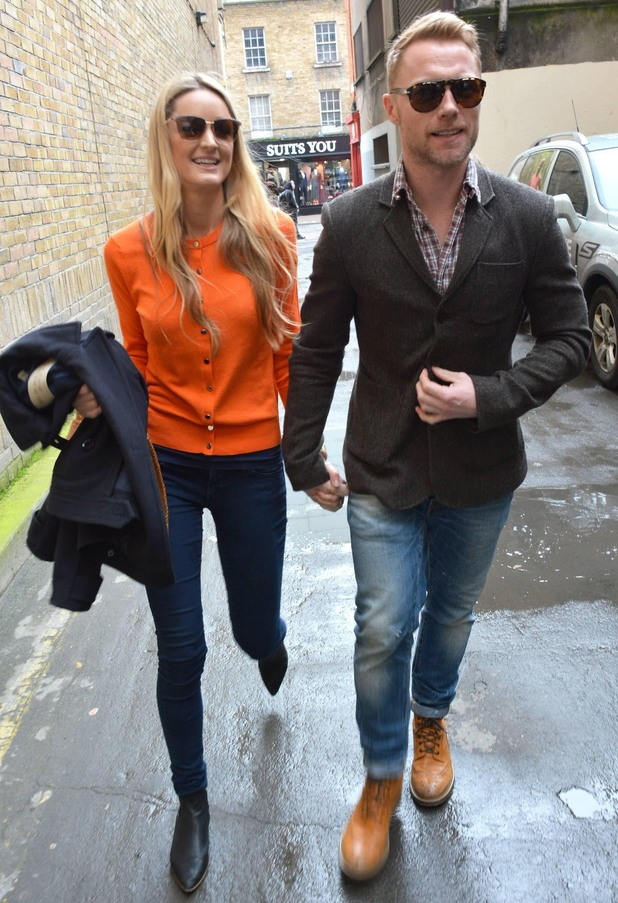 Ronan Keating and Storm Uechtritz leave a Skechers store in Dublin, Ireland - 28 March 2014