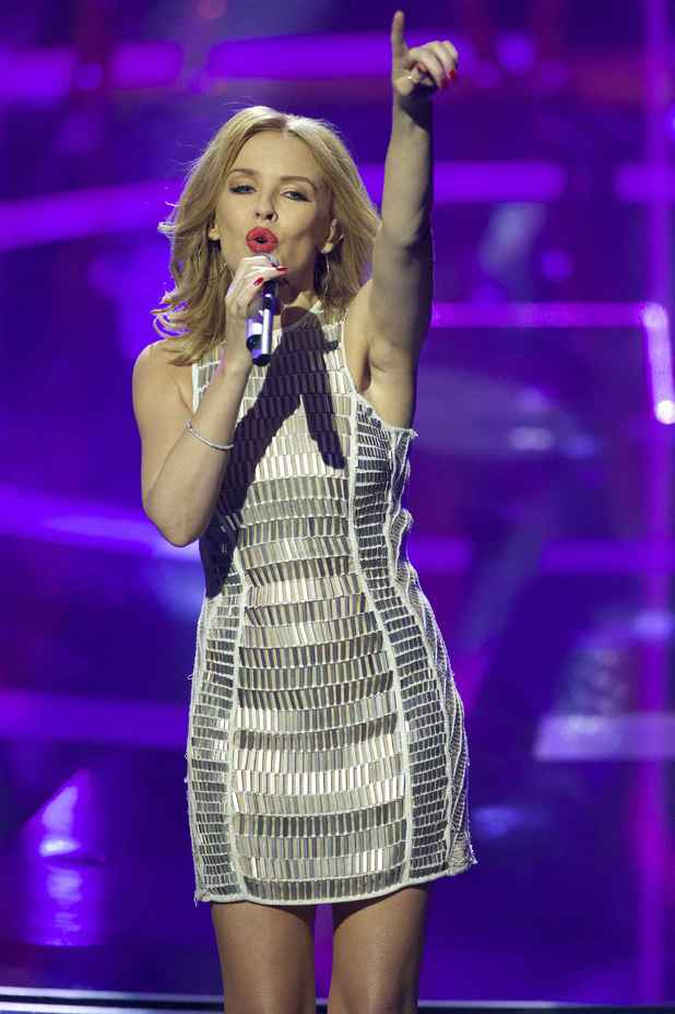 Kylie Minogue performs at the Echo Music Awards in Berlin, Germany - 27 March 2014