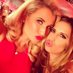 Billie Faiers and Ferne McCann pose for a glam selfie, March 2014