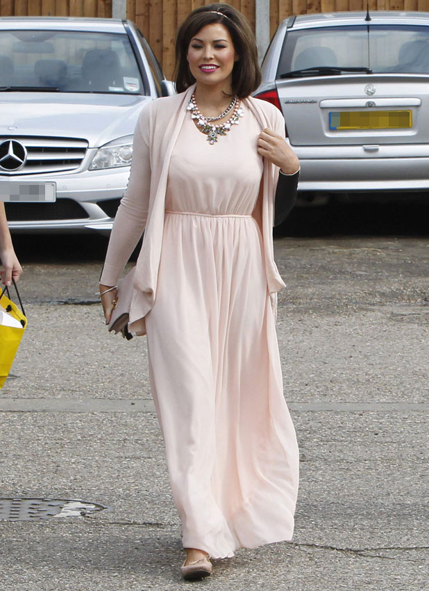 Jessica Wright filming TOWIE in Billericay, Essex, 25 March 2014