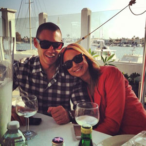 Stacy Keibler and husband Jared Pobre celebrate his birthday, 23 February 2014