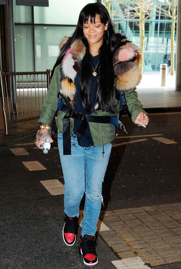 Rihanna at Heathrow Airport, London, Britain - 24 Mar 2014