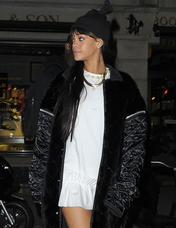 Rihanna partying at Tramp nightclub in London, 27 March 2014