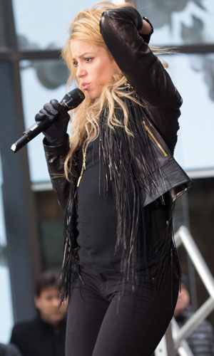 Shakira performing live on the 'Today' show, 26 March 2014