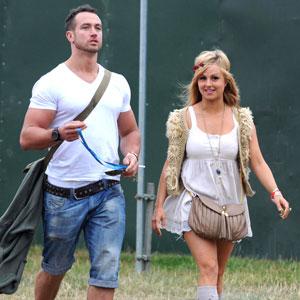 Tina O'Brien and boyfriend Adam Crofts, V festival at Weston Park - Day one Staffordshire, England - 20.08.11
