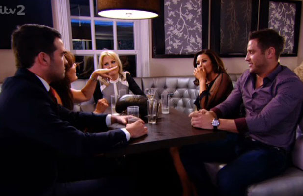 TOWIE series eleven, episode nine, aired 23 March 2014: The Wrights and Rayments have a drink