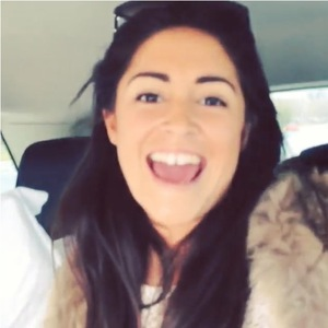 Casey Batchelor sings along in the car while travelling with Ollie Locke to Cornwall - 4 April 2014