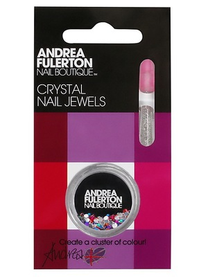 Andrea Fulerton Boutique Multi Colour Crystal Nail Jewels, £7.99, johnlewis.com