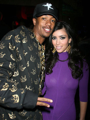 Nick Cannon and Kim Kardashian, Heatherette fashion show after party during Mercedes-Benz Fashion Week Fall 2007 at the Roseland Ballroom, 2007
