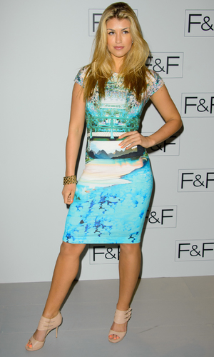 Amy Willerton attends F&F AW 14 Fashion Show at Somerset House - 3 April 2014