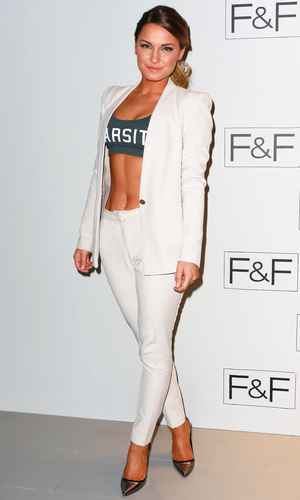 Sam Faiers attends F&F AW 14 Fashion Show at Somerset House - 3 April 2014