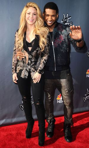 'The Voice' Red Carpet Event, Los Angeles, America - 03 Apr 2014 Shakira and Usher