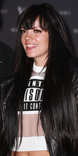 Lily Allen attends the VIP showing of The Glamour of Italian Fashion 1945-2014 exhibition at the Victoria and Albert Museum in London - 2 April 2014