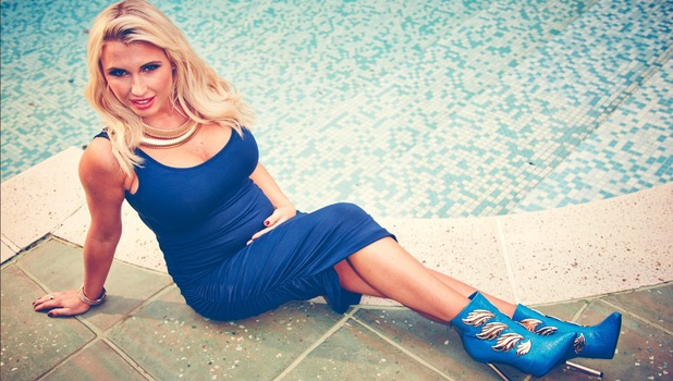 Billie Faiers models in a fashion shoot for Reveal magazine