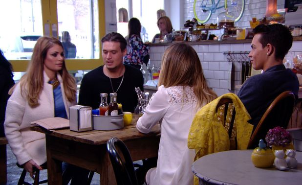 Lauren Pope and Chloe Sims brought together by Bobby Norris and Charlie sims - 2 April 2014