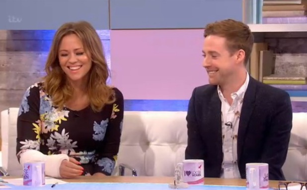 Pregnant Kimberley Walsh appears on Loose Women - 3 April 2014