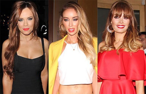 Maria Fowler, Lauren Pope and Chloe Sims composite - 31 March 2014