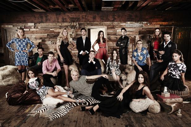 Made In Chelsea, E4, full cast shot, Mon 7 Apr