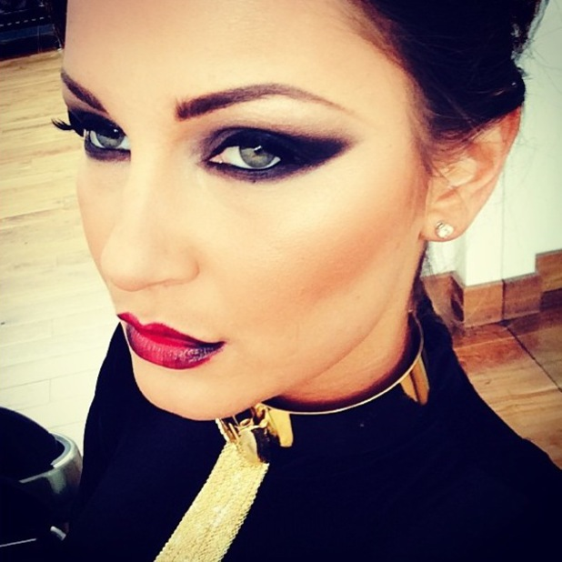TOWIE's Sam Faiers shows off a vampy make-up look during a photoshoot - 31 March 2014