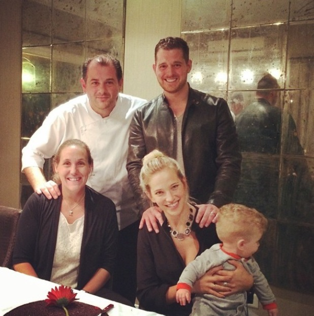 Michael Buble takes a break with baby Noah and celebrates anniversary with Luisana Lopilato - 2 April; 2014