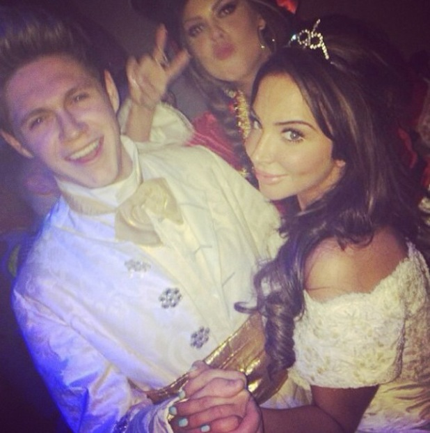 Tulisa parties with One Direction's Niall Horan at Rochelle Humes' birthday party.