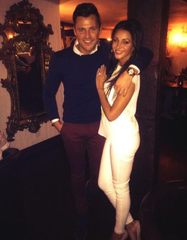 Mark Wright and Michelle Keegan enjoy a date night at Sheesh Chigwell - 29 March 2014
