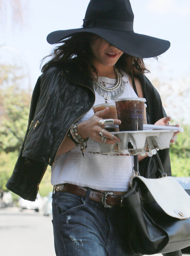 Vanessa Hudgens out in Los Angeles, America - 31 March 2014