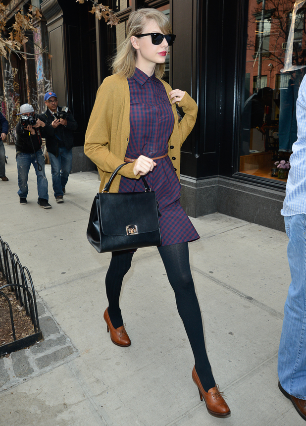 Taylor Swift steps out in New York, America - 3 April 2014
