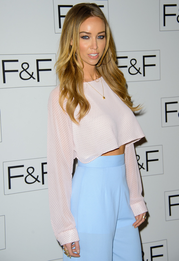 Lauren Pope steps out at the F&F autumn/winter '14 catwalk show at Somerset House in London - 3 April 2014