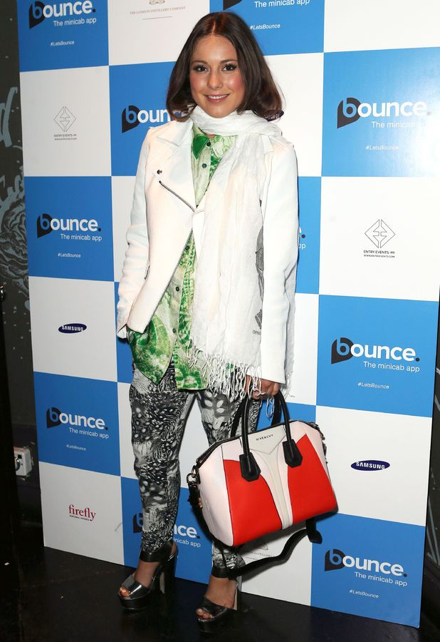 Louise Thompson at the Bounce Minicab app launch at The Cuckoo Club in London - 3 April 2014