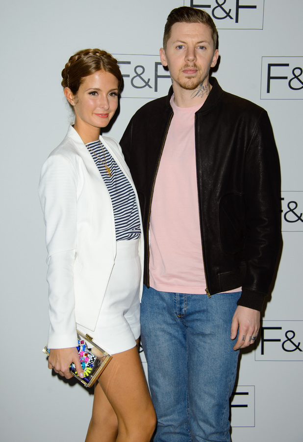 Millie Mackintosh and Professor Green attend the F&F autumn/winter '14 catwalk show in London - 3 April 2014