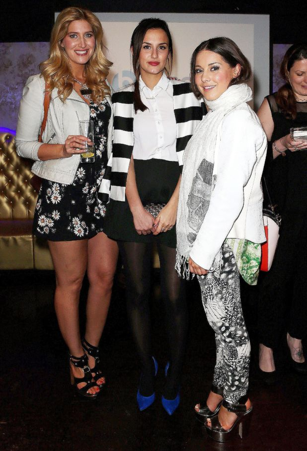 Lucy Watson, Louise Thompson and Cheska Hull at the Bounce Minicab app launch at The Cuckoo Club in London - 3 April 2014