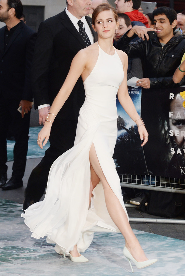 Emma Watson at the premiere of Noah in Leicester Square, London, England - 31 March 2014