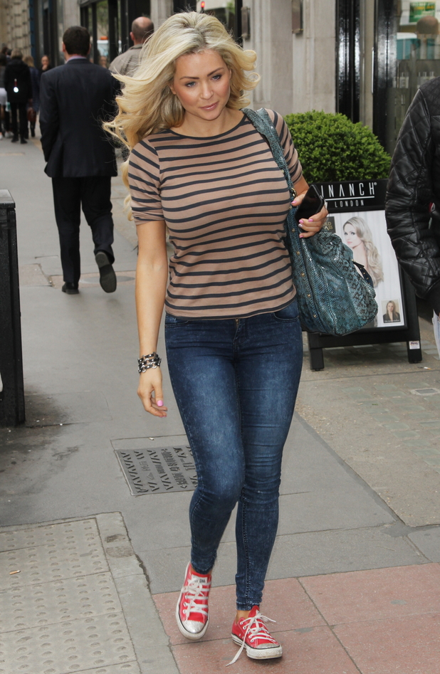 Nicola McLean shows off new hair extensions while leaving Inanch hair salon in London - 31 March 2014