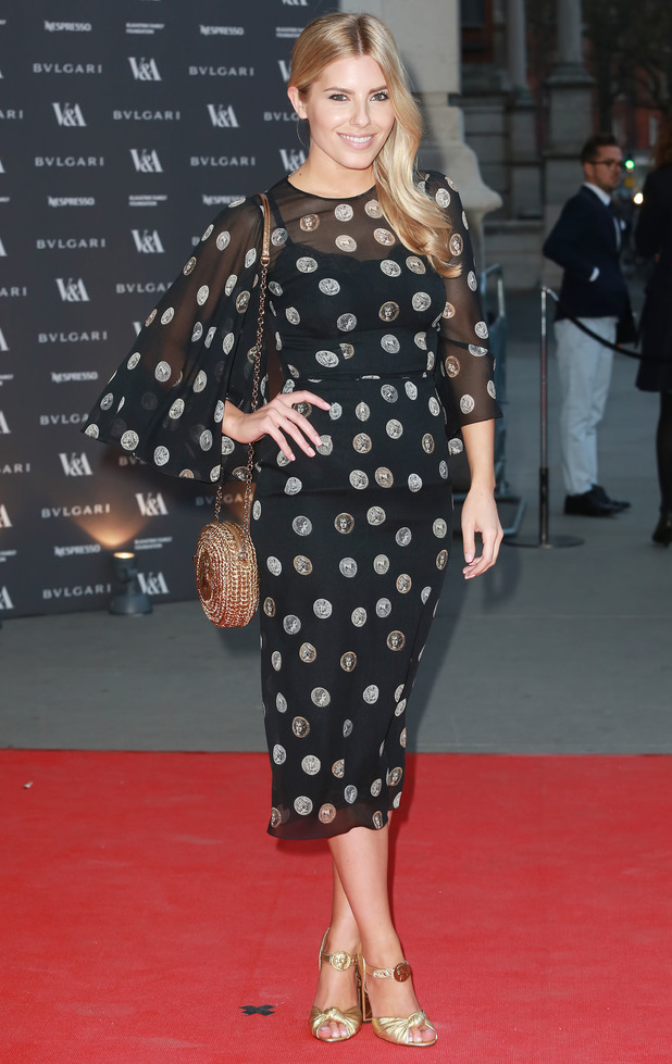 Mollie King attends The Glamour Of Italian Fashion 1945-2014 exhibition at the Victoria and Albert Museum in London - 2 April 2014