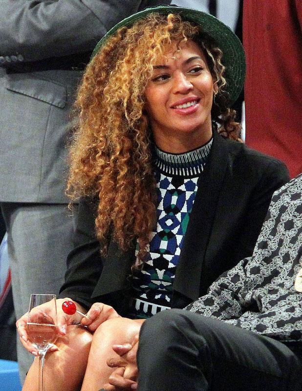 Beyonce at the Brooklyn Nets vs Houston Rockets NBA Basketball, Barclays Center, New York, America - 01 Apr 2014
