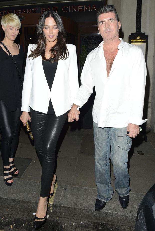 Simon Cowell and Lauren Silverman at the Sanctum Soho Hotel, London, 29 March 2014